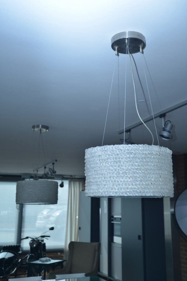 Steel and crystal chandelier - Outlet