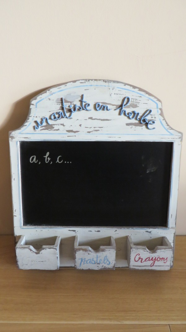 Blackboard with objects holder - Outlet