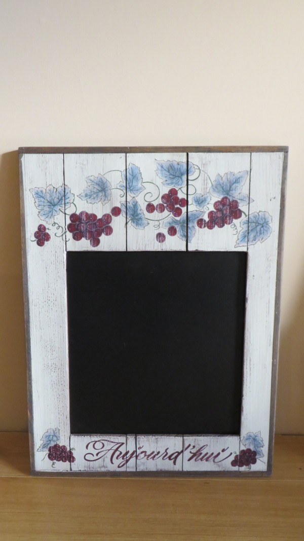 Blackboard with grapes decorations - Outlet